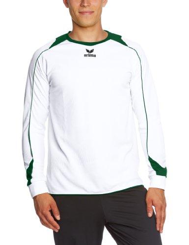 erima Trikot Santiago Langarm - Camiseta de equipación de Balonmano para niña, Color (Weiß/Smaragd), Talla 8 años (128 cm)