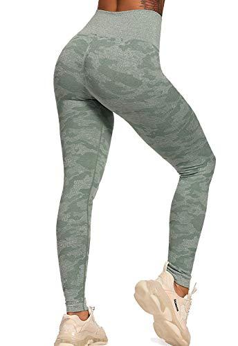 leggins donna militari INSTINNCT Leggins Sportivi da Donna Vita Alta Pantaloni Elastici di Fitness per Allenamento Yoga Collant di Base Dimagrante