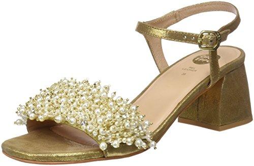 Gioseppo 45314, Zapatos de tacón con Punta Abierta Mujer, Dorado (Oro), 36 EU