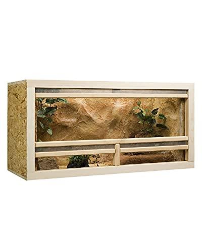 Holzkonzept OSB Terrarium, Holzterrarium 100x50x50 cm mit Frontbelüftung