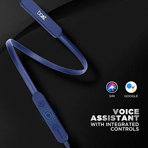boAt Rockerz 255 Pro in-Ear Earphones with 10 Hours Battery, ASAP Charge, IPX5, Bluetooth V5.0 and Voice Assitant(Navy Blue)