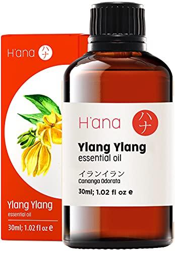H'ana Olio Essenziale di Ylang Ylang per Pelle e Profumo - Olio di Ylang Ylang Naturale per Rilassamento - 100 Ylang Ylang Olio Essenziale Puro per Diffusore Aromaterapia - 30ml