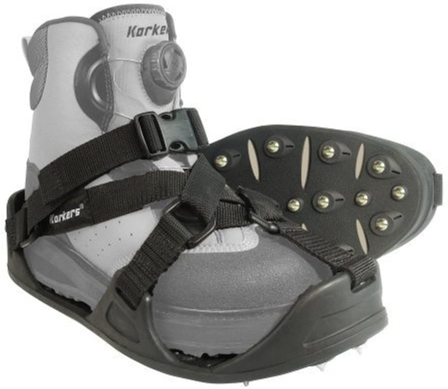 Korkers rocktrax mehr cleated Overschuhe, Large by Korkers