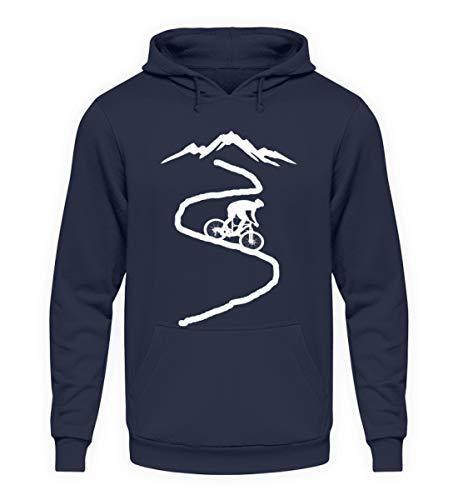 ROCK-WITCHES Idea de regalo para ciclistas, ciclistas de montaña, ciclistas de carreras, amantes de la bicicleta y ciclistas. Sudadera con capucha unisex. azul marino. XXL