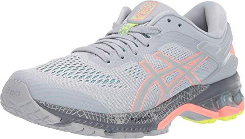 ASICS Women's Gel-Kayano 26 LS Running Shoes, 10.5M, Piedmont Grey/Sun Coral