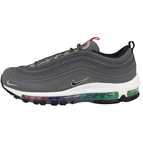 Nike Air Max 97 SE, Scarpe da Corsa Uomo, lt Graphite/Obsidian-Black-Persian Violet-Univ Red-Chamois, 41 EU