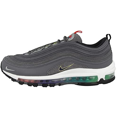Nike Air Max 97 SE, Scarpe da Corsa Uomo, lt Graphite/Obsidian-Black-Persian Violet-Univ Red-Chamois, 44.5 EU