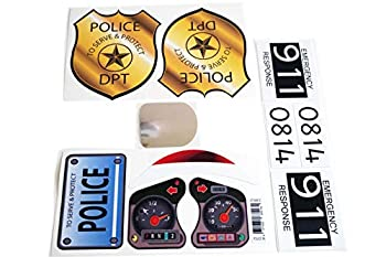 The Toy Restore Replacement Decals Fits Little Tikes 30th Anniversary Cozy Coupe Police Badge Set