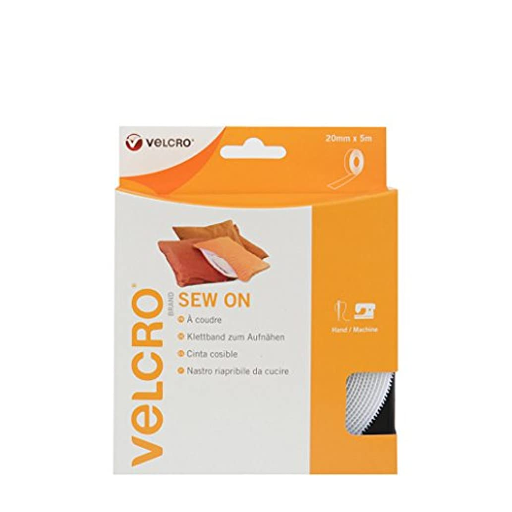 VELCRO Brand Sew On Tape - 20 mm x 5 m, White