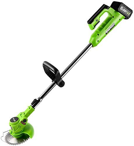 K99 Brushless Elektro Akku-Rasenmäher, Außen Rasenmäher 26V 4,0mA Rand-Maschine für Haus und Garten Rasenpflege (mit Ladegerät und Geschenk-Paket),A Battery