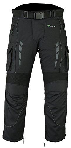 Pantalones de motociclista RIDEX, impermeables, térmicos, blindados CMT3, talla 36 W / 30 L, negro