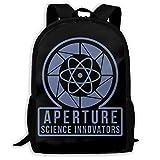 Sac à Dos Scolaire, Travel Hiking Aperture Portal Logo Backpacks Waterproof Big Student College High School Shoulder Bag Outdoor...