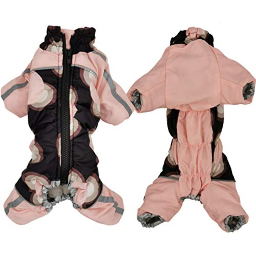 SENERY Winter Dog Clothes Waterproof Reflective Thicker Warm Pet Jacket with Zipper Coat for French Bulldog