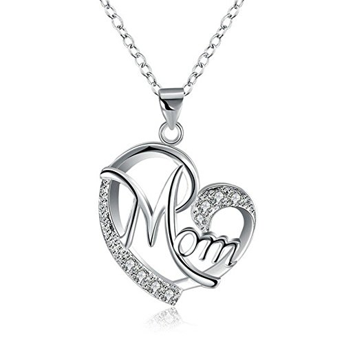 Mom's Gifts,Heart Shape Pendant Necklace, Fashion Jewelry for Women, Anniversary Present for Wife, Aunt, Nana, Daughter