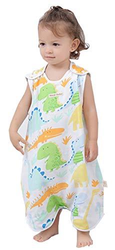 Chilsuessy Baby Sommer Schlafsack mit Beinen Neugeboren Sommerschlafsack Babyschlafsack fuer den Sommer Schlafanzug Kinder Strampler, Dino Baby, 80/Baby Hoehe 75-85cm
