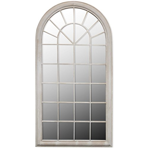 Festnight Espejo Rústico con Arco para Jardín 116 x 60 cm