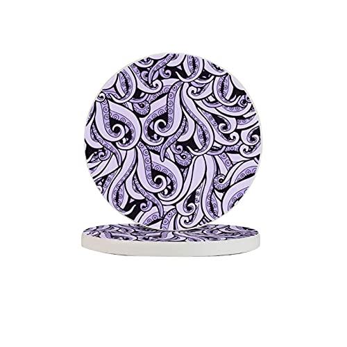 Diatomite Cup Coaster absorbente de agua elegante set de beb