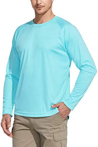 CQR Tol003 - Camisetas para hombre con protección solar UV 50+, camisetas informales de agua, para correr, entrenar, 1 pack - Mint, XL