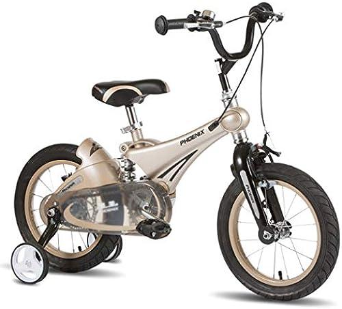 Kinderfürr r Kinder fürrad im Freien fürrad Student fürrad Junge mädchen fürrad im Freien Auto Kind Lernen Auto, Magnesium-Legierung Rahmen (Farbe   braun, Größe   12inches)