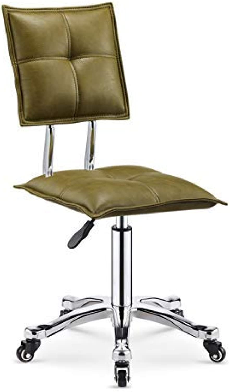 360 Degree redating Bar Stool,Counter Height Bar Stools,PU Leather Adjustable Chairs, Adjustable Bar Stool,Green