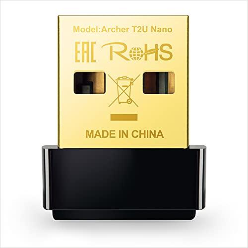 TP-Link Archer T2U Nano Adattatore USB Scheda di Rete, Wireless Dual-Band 600Mbps, Nano Size, non occorre rimuoverlo prima di riporre il computer, Nuovo lancio