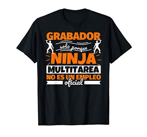Grabador regalo divertido ninja Camiseta