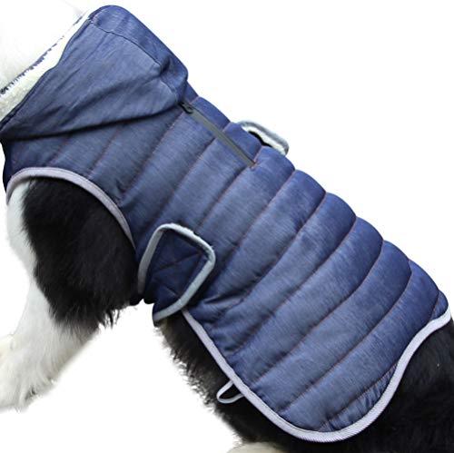 JoyDaog Fleece Hund Hoodie für kleine Hunde warme Welpenjacke für kalten Winter e Hundemäntel mit Kapuze,Denim S