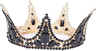 Crown Crystal Crown Head Dance Dance Party Birthday Princess League per la ragazza,Black