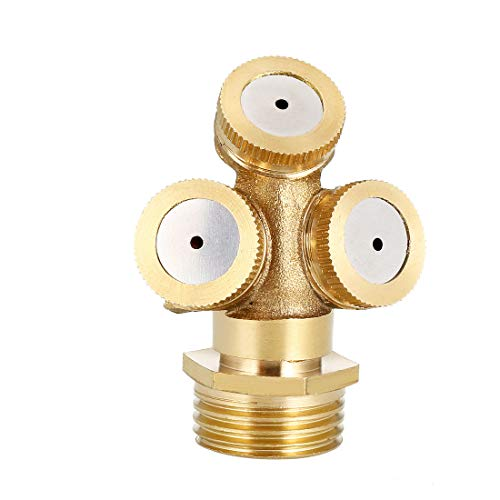 uxcell - Ugello Spray nebulizzatore, 1/2BSPF, Raccordo per irrigazione da Giardino con Adattatore, 2 Pezzi, 3 Holes,2 PCS