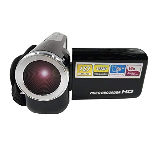 Andoer Videocámara Youtube Vlogging, cámara de Video Digital 1080P 1280x720, Zoom Digital 16x Memoria extendida de 32GB
