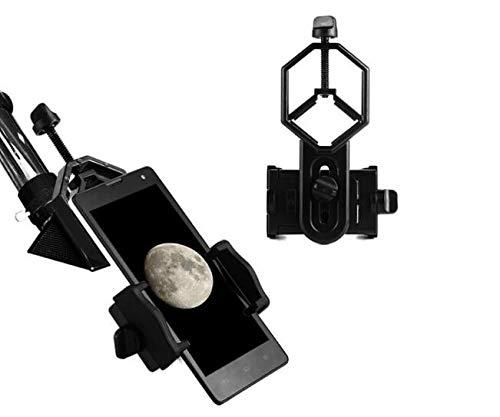 YELLAYBY Adaptador Universal Monte Binocular Telescopio Telescopio Teléfono Soporte Ocular D: 25-48mm para el ámbito de localización del telescopio Observación Naturaleza