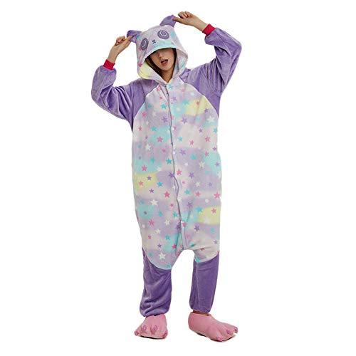 Jessica Deguisement Adulte Costume Unisexe De Pyjama De Star Panda De Peluche d'une Seule Pièce Adulte,M
