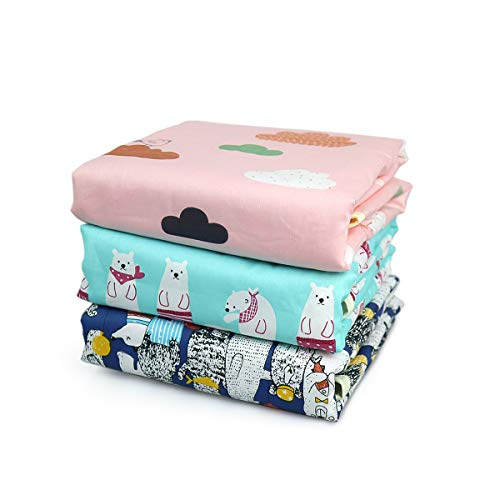 Telo Cambio Pannolino Impermeabile,3pcs fasciatoio portatile neonato impermeabile telo cambio pannolino lavabile portatile pieghevole da viaggio pad Tampone per incontinenza animali(50*70cm)
