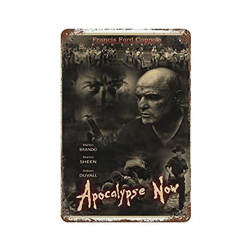 The Apocalypse Now Affiche de signe d'étain en métal tableau mural, Vintage métal Pub Club café Bar maison mur Art décoration affiche rétro 8x12 pouces