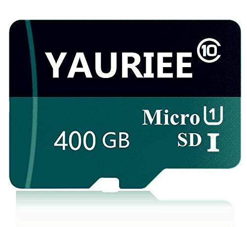 Scheda di memoria micro SD classe 10, 400 GB, Micro SD Card C10, scheda di memoria TF Card Transflash con SD Free SD Adapter for Phone/Camera (400 GB)
