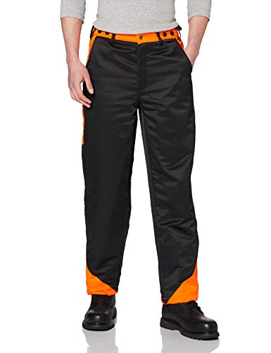 Portwest Workwear Mens Chainsaw Trousers Black Medium