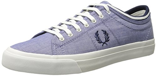 Fred Perry Men's Kendrick Tipped Cuff Shirting Fashion Sneaker, Rich Blue, 9.5 UK/10.5 M US