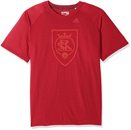 adidas Camiseta de Manga Corta para Hombre Manga Corta Ulimate S/S de Tiempo Completo, MLS, Camiseta Ulimate de Tiempo Completo S/S, Hombre, Color Victory Rojo, tamaño L