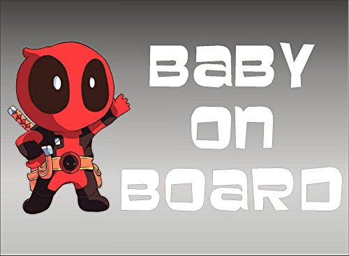Deadpool Baby on Board/Marvel Comics/Vinyl Vehicle Kids Window Sticker Graphic Decal