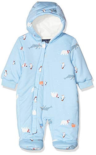 Joules Baby Boys' Snug Snowsuit, Blue (Light Blue Polar Animals Lbluplrani), Months (Size:0-3)