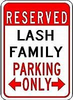 個人的な駐車場標識ラッシュ家族駐車場-カスタマイズされた最後の名前は、錫金属通りの看板装飾を警告
