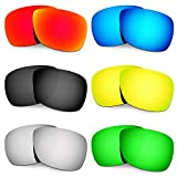 Hkuco Mens Replacement Lenses For Oakley Inmate Red/Blue/Black/24K Gold/Titanium/Emerald Green Sunglasses