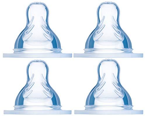 MAM Sauger Größe X im 4er Set, Flaschensauger (Durchflussrate extra schnell), weicher Trinksauger passend für alle MAM Flaschen/Trainer, ab 6+ Monate