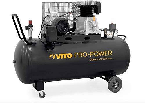 VITO Professional 300 Liter Kompressor 4PS 10 - 15 bar max Druckluftkompressor mit Ölschmierung - Kolbenkompressor 400L/Min