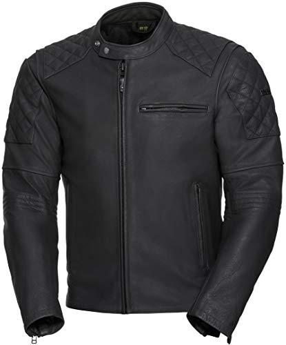 IXS Motorradjacke mit Protektoren Motorrad Jacke Eliott Herren Lederjacke schwarz 52, Chopper/Cruiser, Sommer