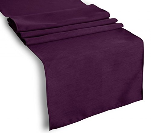 Creative 13'x 72' Classic Solid Table Top Runner - Eggplant