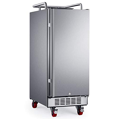 EdgeStar BR1500SSOD 15' Built-In Outdoor Kegerator Conversion Refrigerator