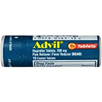 10-Count Advil Coated Tablets Pain Reliever and Fever Reducer, 200mg