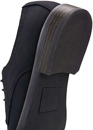JOUSEN Men's Black Dress Shoes Suede Casual Dress Shoes for Men(AMY709 Black 10.5)