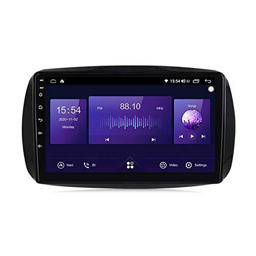 2 Din Car Stereo Autoradio Reproductor Bluetooth MP5 Pantalla táctil de 9 pulgadas para Benz Smart 2014-2020 con monitor de reposacabezas Carplay FM AUX USB Función SD control del volante,7862,4+64G